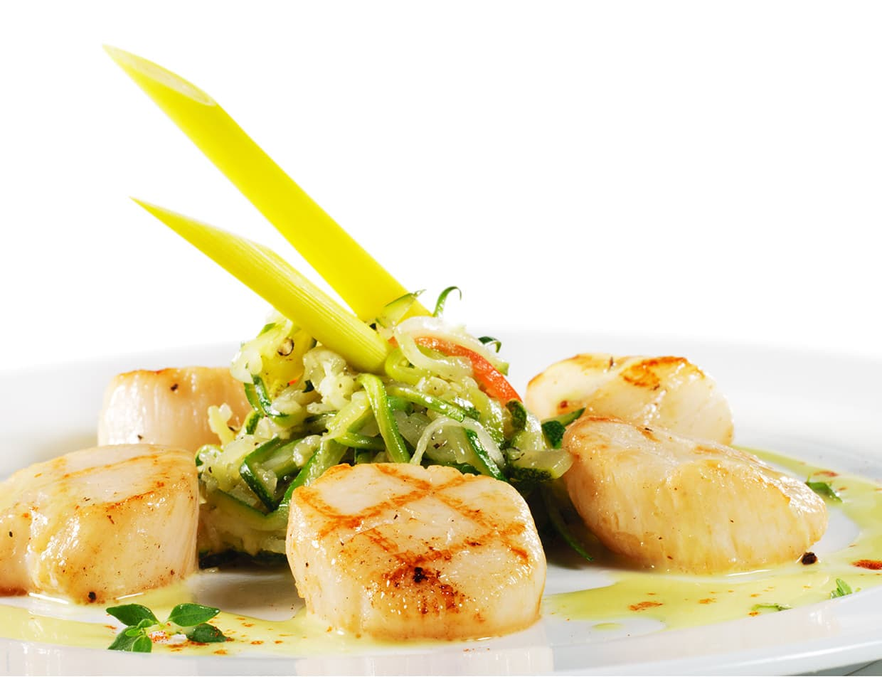 plate of grilled scallops