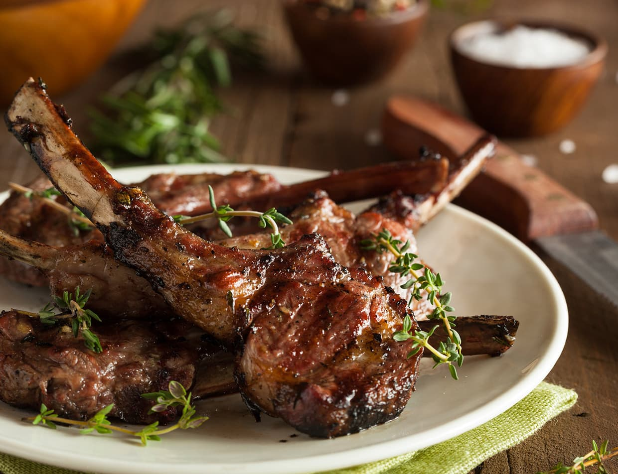 grilled lamb chops - top dining in Portland, ME
