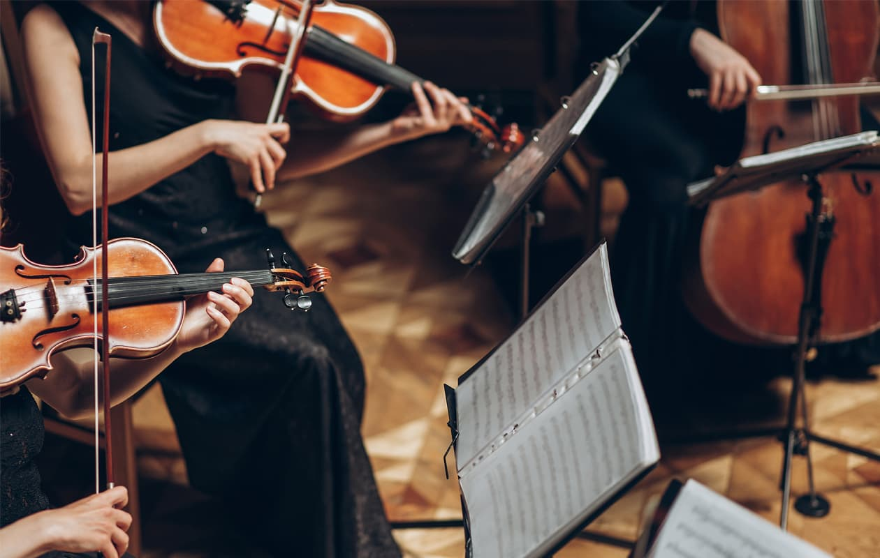 Portland symphony with violins and cello