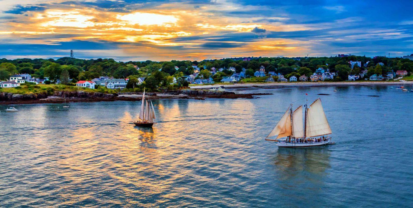 sailboats near our Portland Maine inn