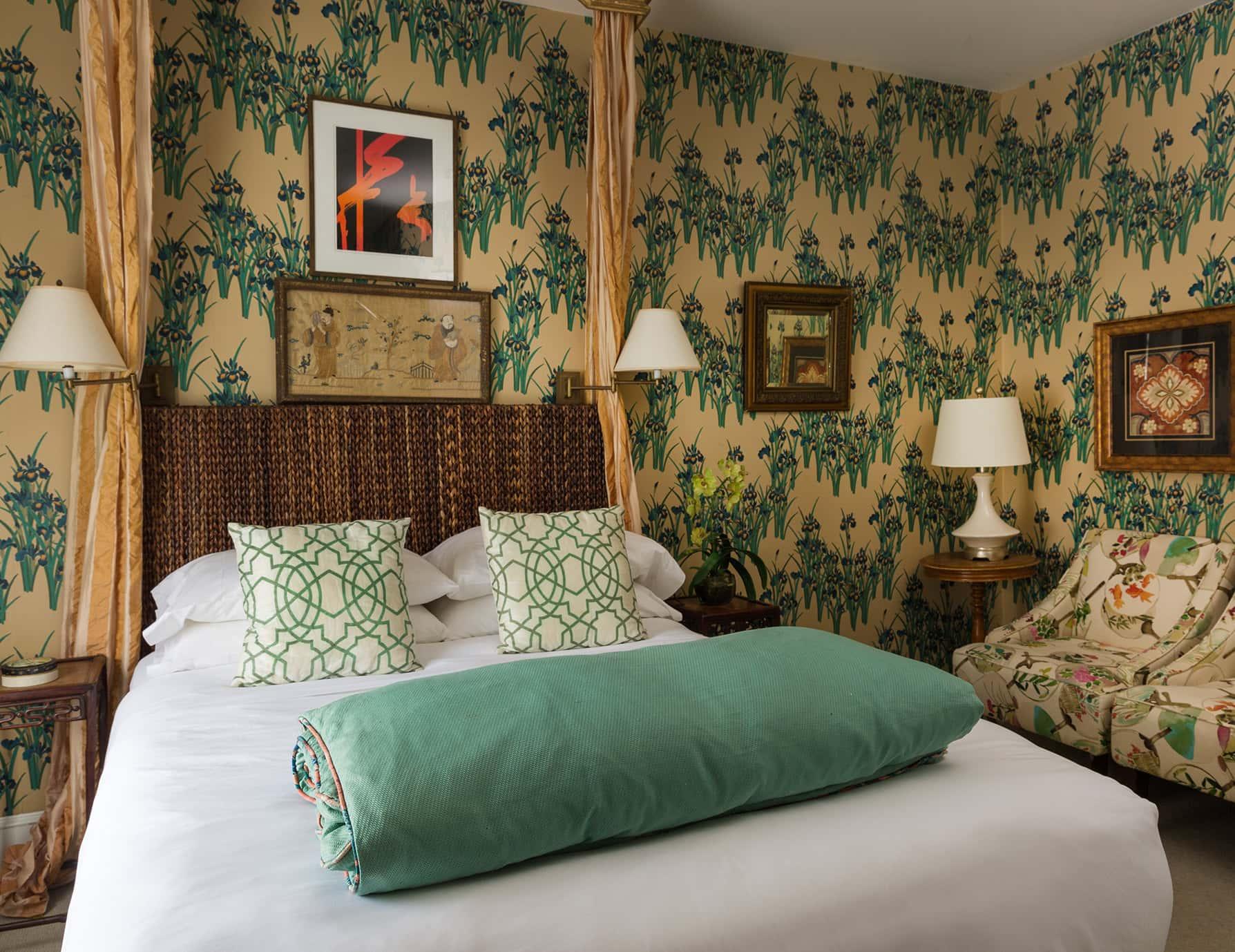 Iris Room bed - Portland Maine lodging