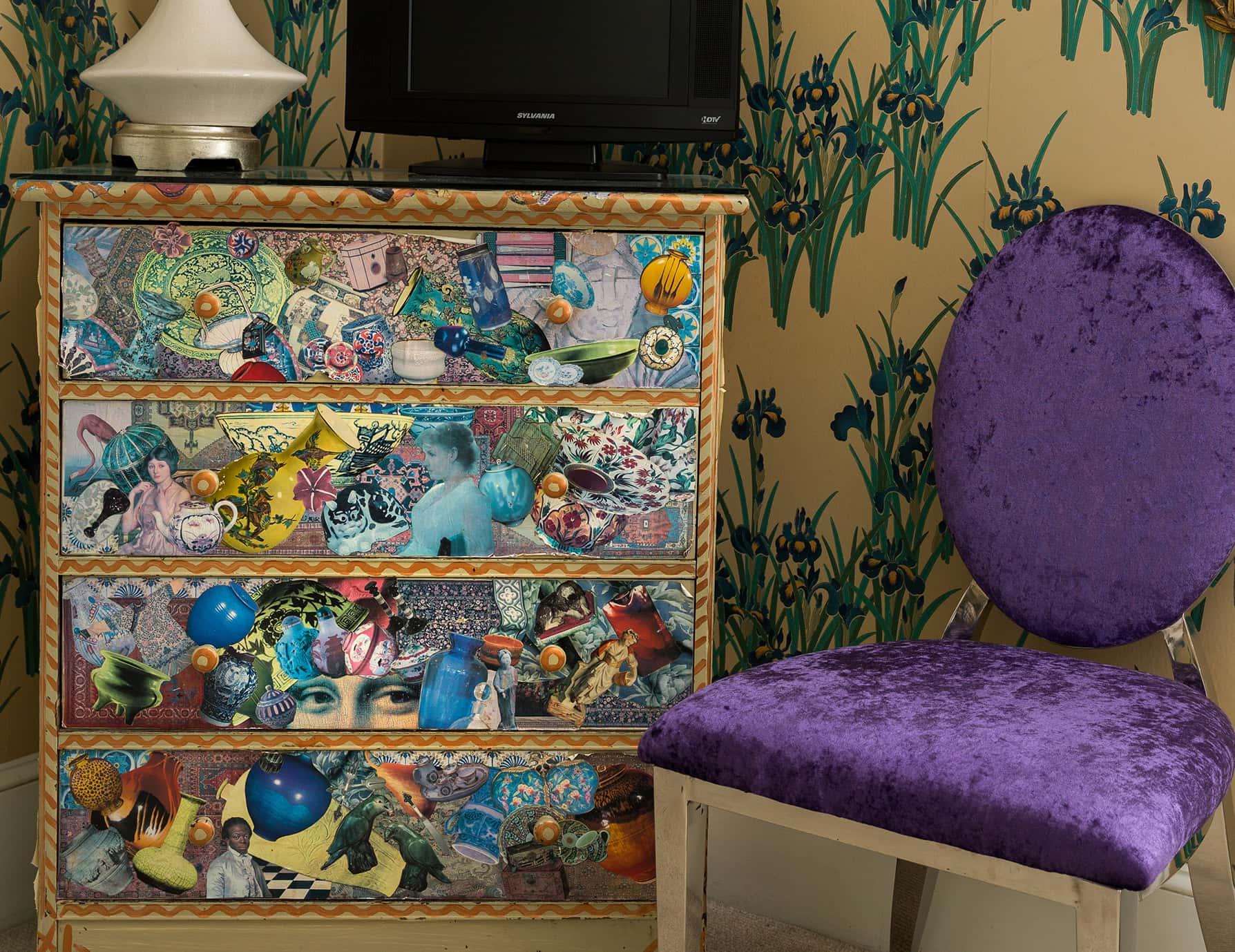 Iris Room chair and dresser - Portland Maine lodging