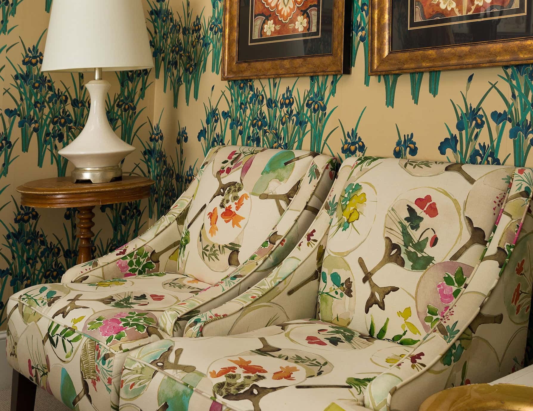 Iris Room siting area - Portland Maine lodging