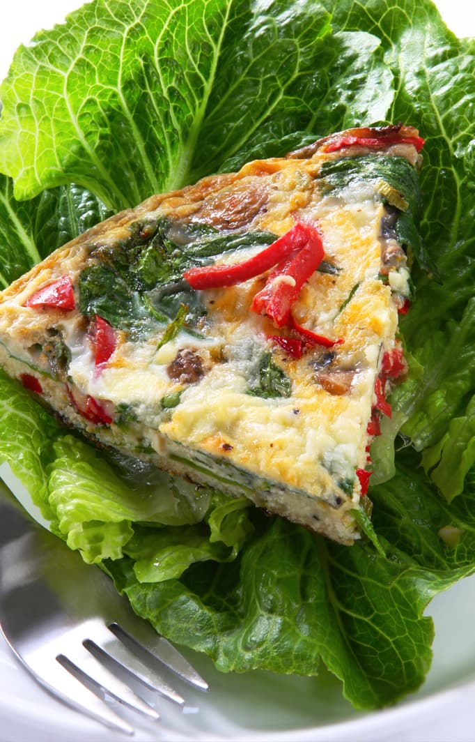 fresh spinach frittata